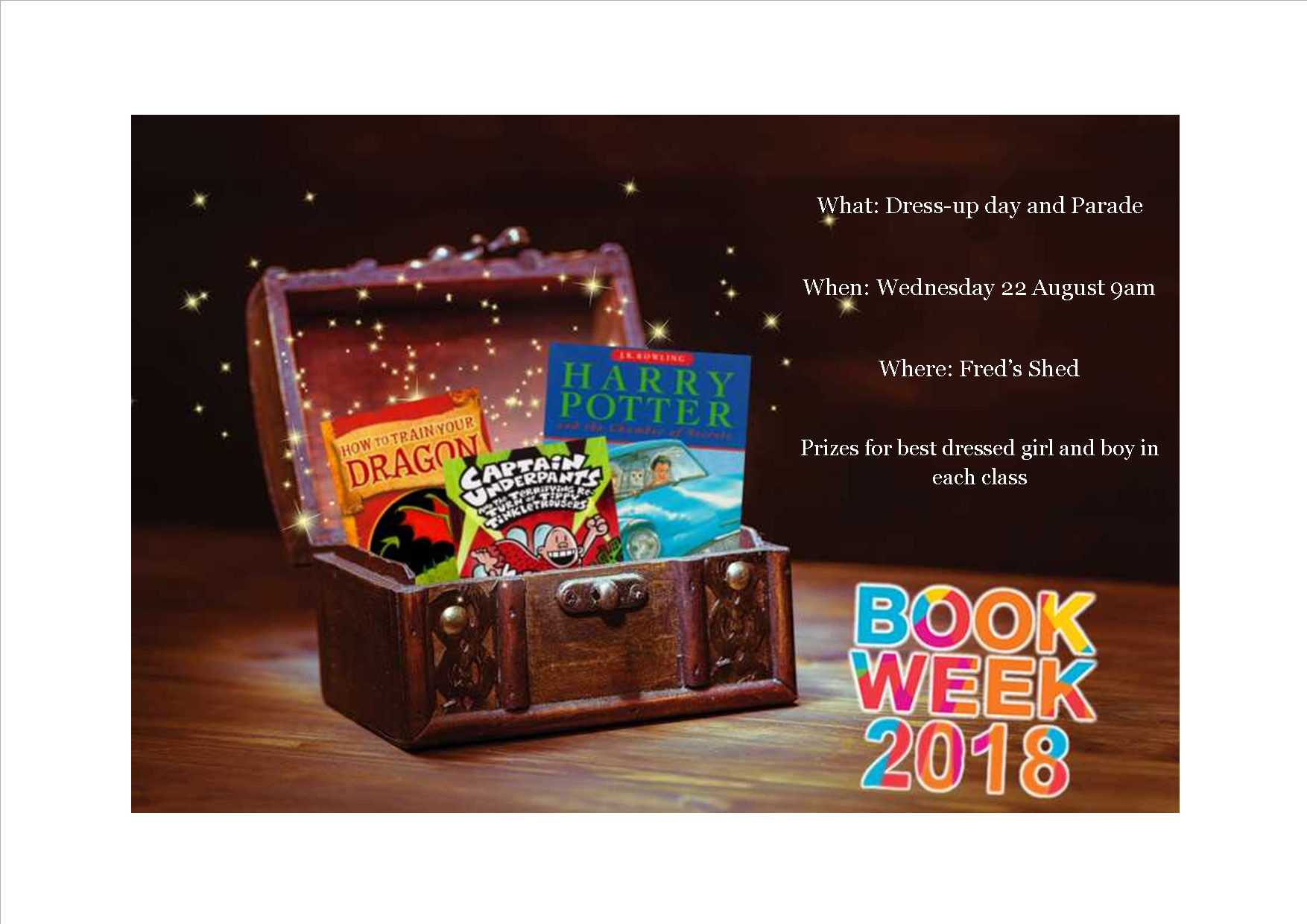 Book Week Parade - Tomorrow